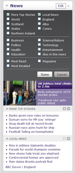 BBC News Widget