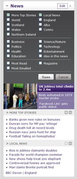 BBC News Widget