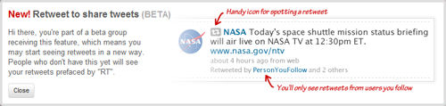 Twitter Retweet - Beta Function